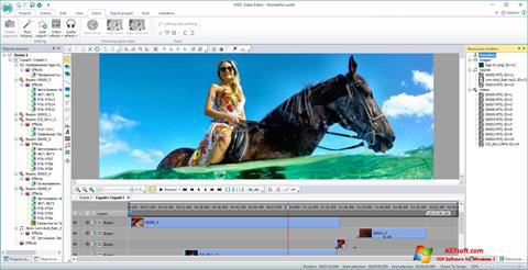 Ekrano kopija VSDC Free Video Editor Windows 7