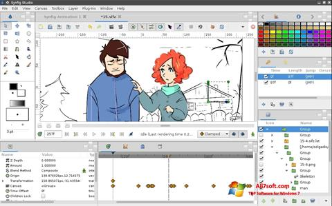 Ekrano kopija Synfig Studio Windows 7